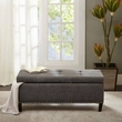 Madison Park Shandra II Tufted Top Storage Bench in Charcoal - Olliix FPF18-0502