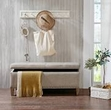 Madison Park Shandra II Tufted Top Storage Bench in Natural - Olliix FUR105-0042