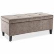 Madison Park Shandra II Tufted Top Storage Bench in Taupe - Olliix FPF18-0197