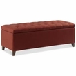 Madison Park Shandra Tufted Top Storage Bench in Rust Red - Olliix FUR105-0040