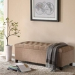 Madison Park Shandra Tufted Top Storage Bench in Sand - Olliix FPF18-0142