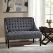 Madison Park Tristan Button Tufted Settee in Charcoal - Olliix FPF18-0479