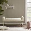 Madison Park Wagner Accent Bench in Cream - Olliix MP105-0424