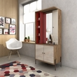 Manhattan Comfort 350711 - Joy Vanity Jewelry Armoire w/ Mirror in Red & Off White