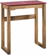 "Manhattan Comfort CS105003 - Mid- Century Modern Stillwell 31.5"" Bar Table in Red & Natural Wood"