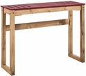 "Manhattan Comfort CS105503 - Mid- Century Modern Stillwell 47.3"" Bar Table in Red & Natural Wood"