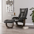 Michaelson Reclining Chair & Ottoman - Transitional Style - Charcoal - Southern Enterprises UP4506