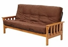 Mission Full Pine Futon Frame - Mattress Not Included - Chelsea Home Furniture 36F33