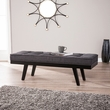 Mowry Upholstered Entryway Bench in Gray w/ Black - Southern Enterprises BC8094
