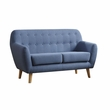Ngaio Loveseat in Blue Linen - Acme Furniture 52656
