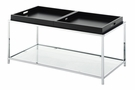 Palm Beach Coffee Table in Black Finish - Convenience Concepts 131382BL