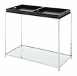 Palm Beach Console Table in Black Finish - Convenience Concepts 131399BL