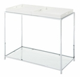 Palm Beach Console Table in White Finish - Convenience Concepts 131399W