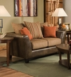 Patch Loveseat McLarin Saddle & Council Mocha - Chelsea Home Furniture 424173-04L