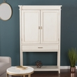 Peterson Fold-Out Bar Cabinet - Transitional Style - Antique White - Southern Enterprises HZ1062
