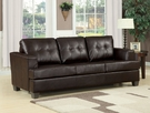 Platinum Sofa w/ Queen Sleeper in Brown Bonded Leather - Acme Furniture 15060