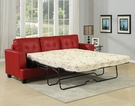 Platinum Sofa w/ Queen Sleeper in Red Bonded Leather - Acme Furniture 15063