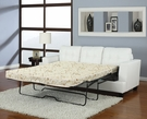 Platinum Sofa w/ Queen Sleeper in White Bonded Leather - Acme Furniture 15062