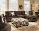 Rayna 2 pc. Sectional - Groovy Chocolate - Chelsea Home Furniture 738642-6167-35218