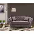 Rhianna Transitional Loveseat in Brown Tufted Chair - Armen Living LCRH2LBR