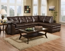 Rho 2 pc Sectional Cowboy Brown - Chelsea Home Furniture 424350-05-SEC-CBR