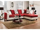 Riverstone Implosion Red Velvet Sectional - Flash Furniture RS-4124-10SEC-GG