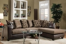 Riverstone Object Espresso Chenille Sectional - Flash Furniture RS-4124-01SEC-GG