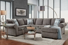 Roosevelt 2 PC Chaise Sectional Charisma Smoke - Chelsea Home Furniture 193050-SEC-CS