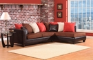 Sailor Sectional Jefferson Chocolate & Sierra Chocolate - Chelsea Home Furniture 424184-07S-SEC