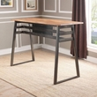 Scarus Bar Table in Natural & Gunmetal - Acme Furniture 72385