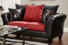 Simon Loveseat - Flatsuede Red - Chelsea Home Furniture 479000-L-FR