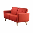 Sisilla Loveseat in Red Linen - Acme Furniture 52661