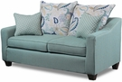 Stefan Loveseat Stallion Turquoise - Gwendolyn Spa - Ginny Spa - Chelsea Home Furniture 299700-L-STGS