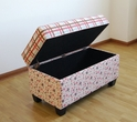 Storage Bench/Plaid And Floral - 4D Concepts