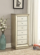 Talor Jewelry Armoire in Antique Gold - Acme Furniture 97172