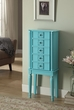 Tammy Jewelry Armoire in Light Blue - Acme Furniture 97170
