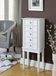 Tammy Jewelry Armoire in White - Acme Furniture 97167