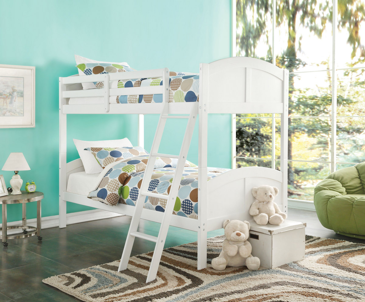 Toshi Twin/Twin Bunk Bed in White - Acme Furniture 37009