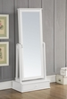Traci Jewelry Armoire (Floor Mirror) in White - Acme Furniture 97116