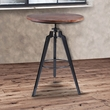 Tribeca Pub Table in Industrial Grey Finish w/ Ash Wood Tabletop - Armen Living LCTRPUGMPI