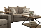 Ushury Loveseat w/ 2 Pillows in Gray Chenille - Acme Furniture 52191