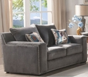 Ushury Loveseat w/ 2 Pillows in Gray Fabric - Acme Furniture 53191