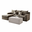 Ushury Sectional Sofa w/ 2 Pillows in Gray Chenille - Acme Furniture 53590