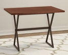 Valencia Contemporary Rectangular Bar Table in Auburn Bay Finish w/ Sedona Wood Top - Armen Living LCVLBTTOSE