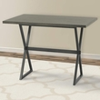 Valencia Contemporary Rectangular Bar Table in Mineral Finish w/ Grey Walnut Wood Top - Armen Living LCVLBTTOGW