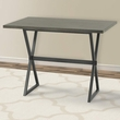 Valencia Contemporary Rectangular Bar Table in Mineral Finish w/ Walnut Wood Top - Armen Living LCVLBTTOWA