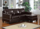 Vogue Sectional Sofa (Rev. Chaise) in Espresso Bonded Leather - Acme Furniture 15915
