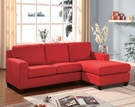 Vogue Sectional Sofa (Rev. Chaise) in Red Microfiber - Acme Furniture 05917