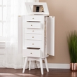 Wesley Jewelry Armoire in White - Southern Enterprises JS1611