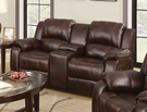 Zanthe Loveseat w/ Console (Motion) in Brown P-Mfb - Acme Furniture 50513
